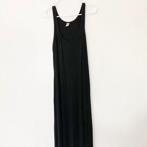 Old navy black stretch maxi dress